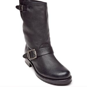 Frye Veronica Short Engineer Boot Black